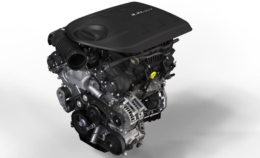 2016 Jeep Cherokee Trailhawk's 3.2 liter Pentastar engine