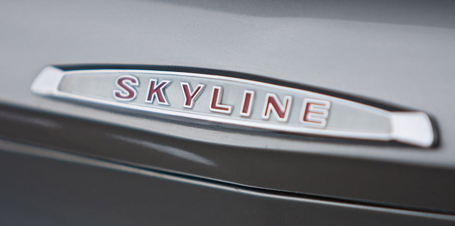 Nissan Skyline Rear View - Lettering