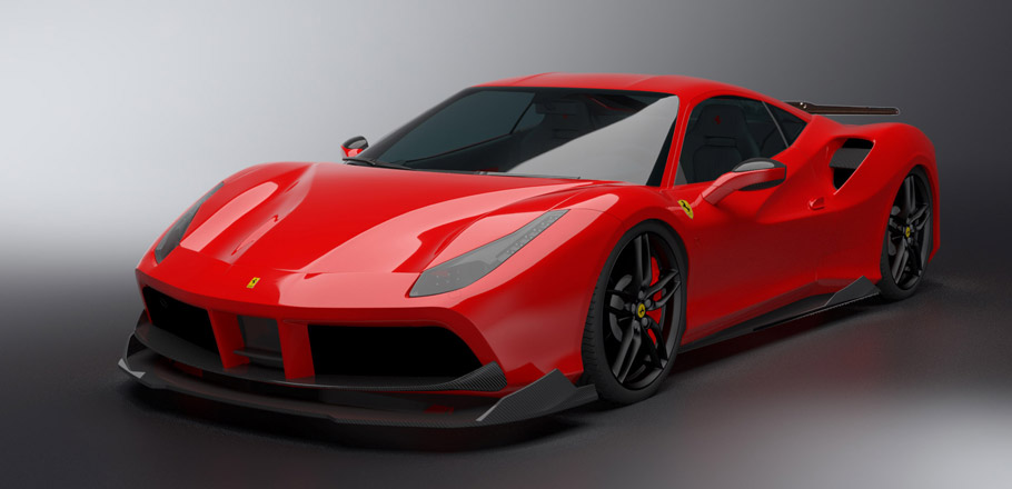DMC Ferrari 488 GTB ORSO front and side view
