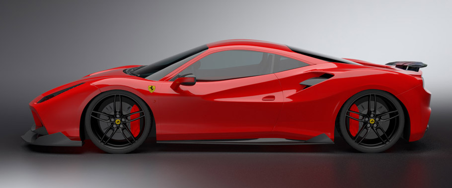 DMC Ferrari 488 GTB ORSO  side view