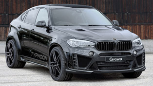 do not fear the typhoon! praise it! meet g-power's bmw x6 m