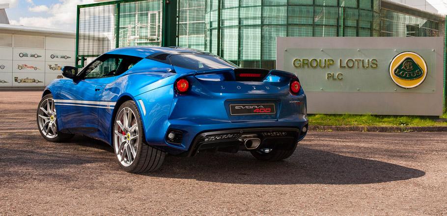 Lotus Evora 400 Hethel Edition rear view