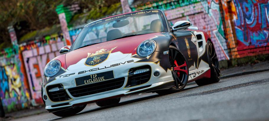 TIP-Exclusive Porsche 911 Turbo Cabriolet front view