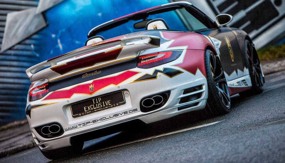 TIP-Exclusive Porsche 911 Turbo Cabriolet rear view