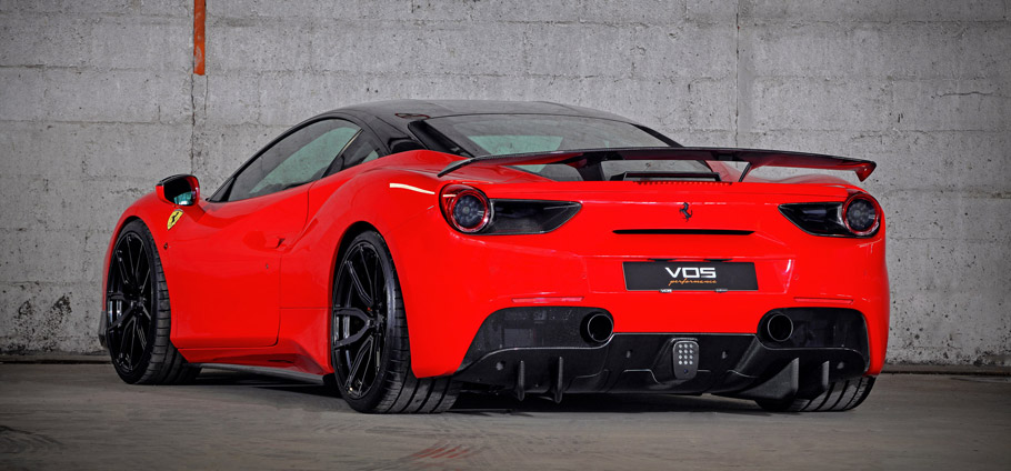 VOS Ferrari 488 GTB rear view