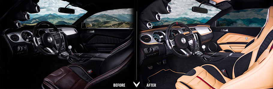 Vilner Shelby Mustang GT500 Super Snake Anniversary Edition before and after second pic