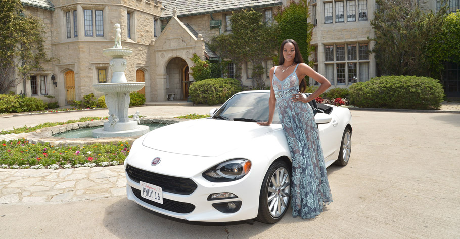 2017 Fiat 124 Spider & Eugena Washington front view