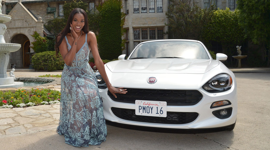 2017 Fiat 124 Spider and Eugena Washington up close