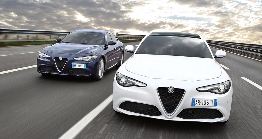 Alfa Romeo Giulia front view
