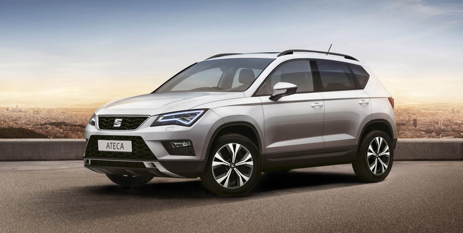 Seat Ateca First Edition side and front view