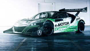 Nasty Acura NSX EV Concept is about to conquer Pikes Peak with winner Tetsuya Yamano behind the wheel