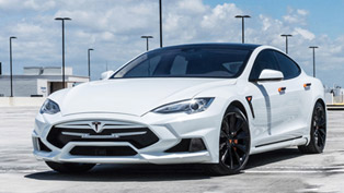 watch the restyled tesla model s roll on the streets of miami [w/video]