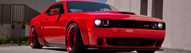 This Red Hot Dodge Challenger coming directly from... Hell