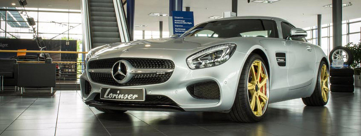 Lorinser Mercedes-AMG GT S front and side view