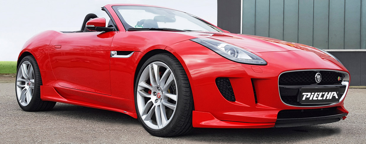 Piecha Jaguar F-Type Cabrio side and front view