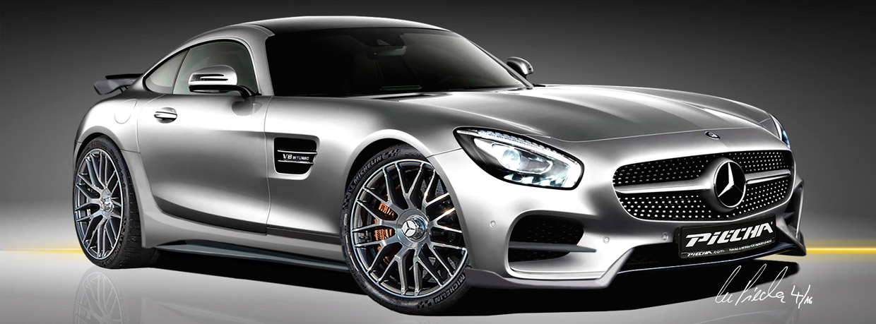 Piecha Mercedes-AMG GT S Renderings front view