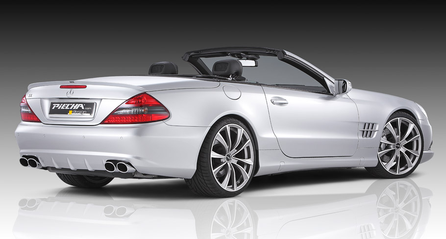 Piecha Mercedes-Benz SL R230 Roadster rear and side view