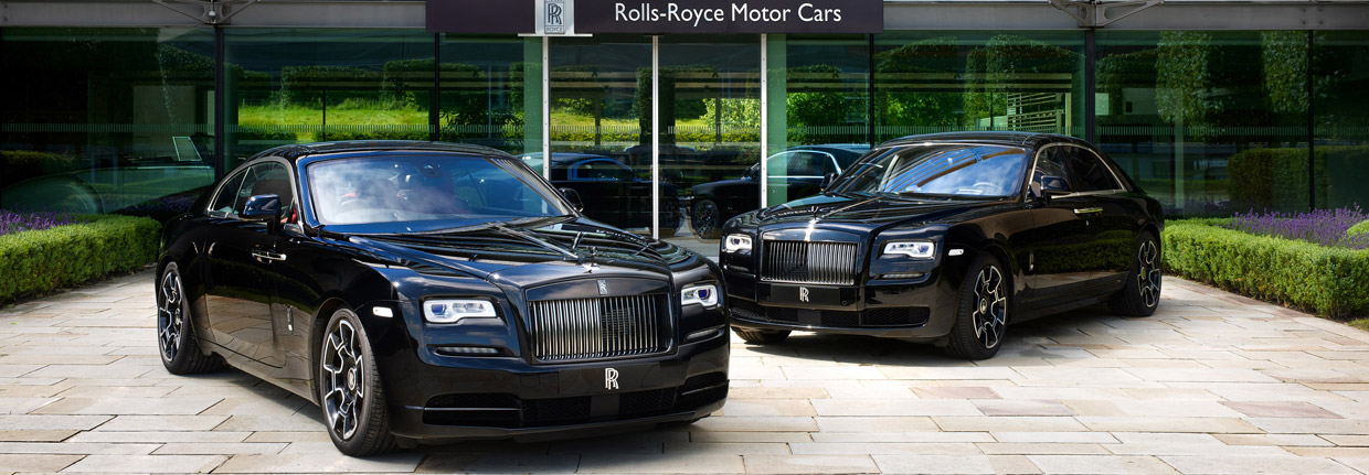 Rolls-Royce Wraith Black Badge and Ghost Black Badge front view