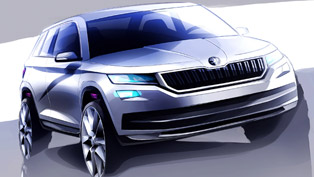 skoda reveals the new bear-inspired kodiaq suv with couple of sketches