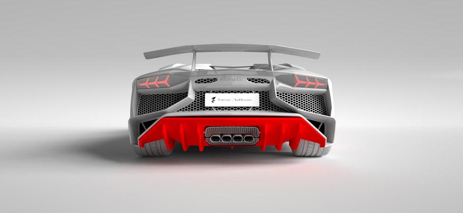 Vitesse AuDessus Lamborghini Aventador LP 750-4 Superveloce rear view