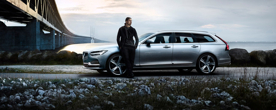 2017 Volvo V90 with Zlatan Ibrahimovic