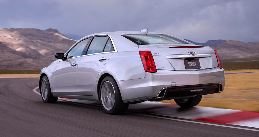 2017 Cadillac CTS facelift rear view