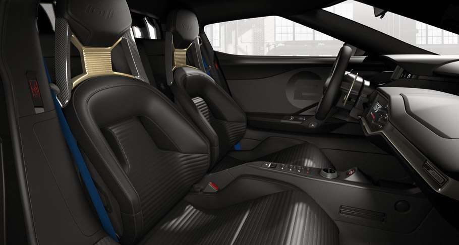 2017 Ford GT '66 Heritage Edition interior