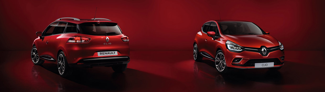 2017 Renault Clio front and rear view