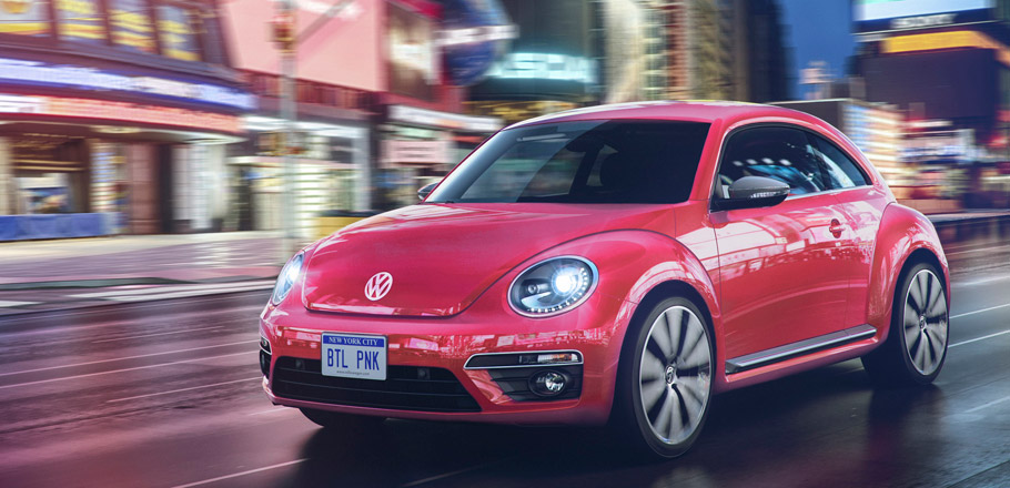 Volkswagen PinkBeetle Limited Edition front view