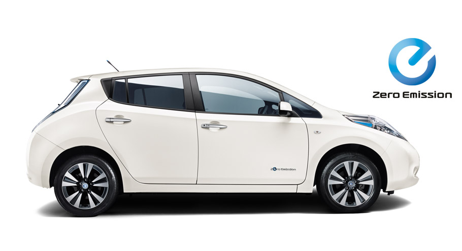 Nissan Leaf EV side view