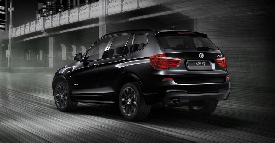 BMW X3 Blackout Edition rear view