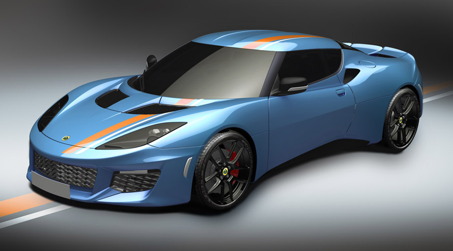 2016 Lotus Evora Blue and Orange Limited Edition