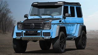 Sky blue carbon fiber Mercedes-Benz G500 is one of the best vehicles you'll see this summer