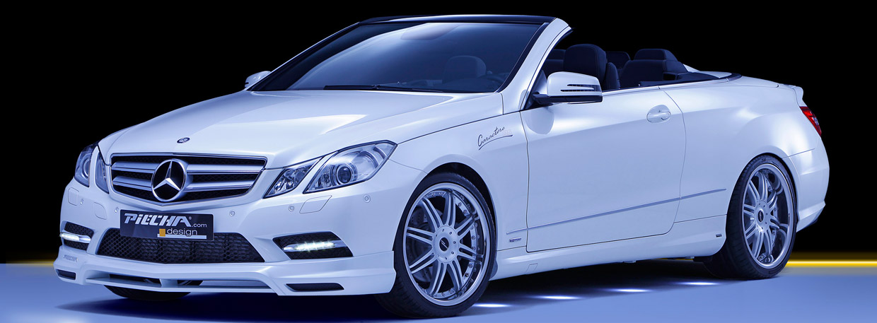 PIECHA Design Mercedes-Benz E-Class Convertible front and side view