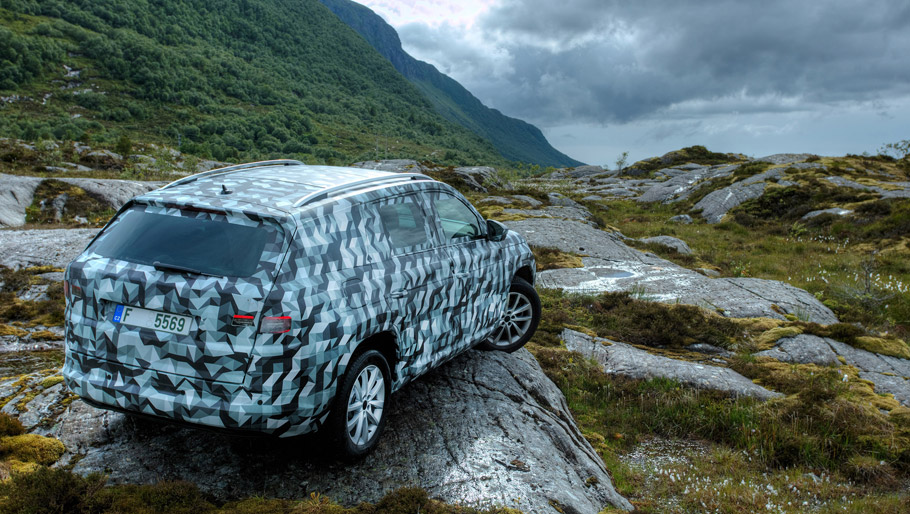 Skoda Kodiaq SUV rear view