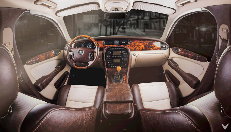 Vilner Jaguar XJ Single Malt interior pic one