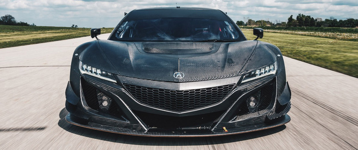 Acura NSX GT3 Racecar front view