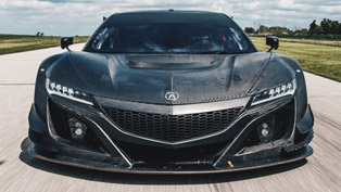 acura nsx gt3 racecar is hot and sweaty on the racetrack