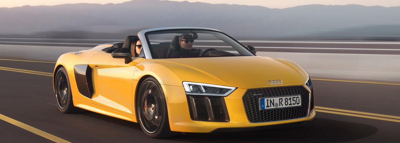 Audi R8 Spyder V10 front view