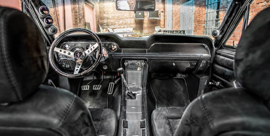 1967 Ford Mustang Fastback by Carlex Design interior - front view