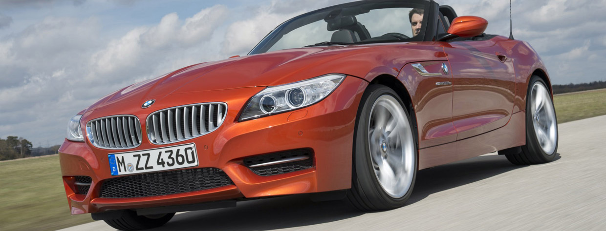 2016 BMW Z4 E89 sDrive35 in Valencia Orange Metallic side view