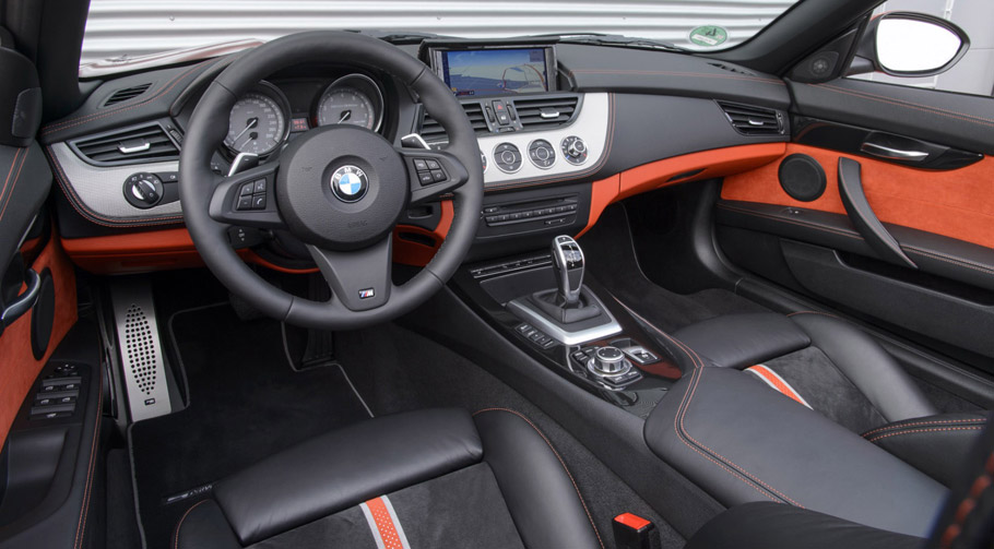 2016 BMW Z4 E89 sDrive35 in Valencia Orange Metallic interior