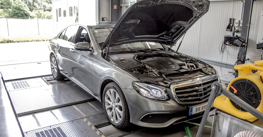 DTE Systems Mercedes-Benz E220d Dyno testing