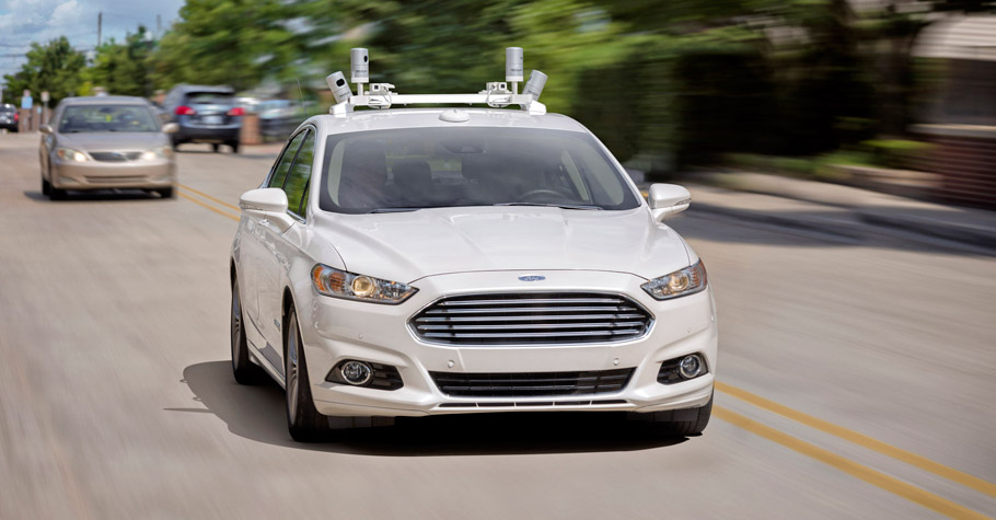 Ford Fusion Autonomous car front view pic two