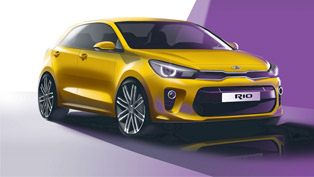 kia rio in sketches: bold, muscular and confident. hopefully, as the real one.