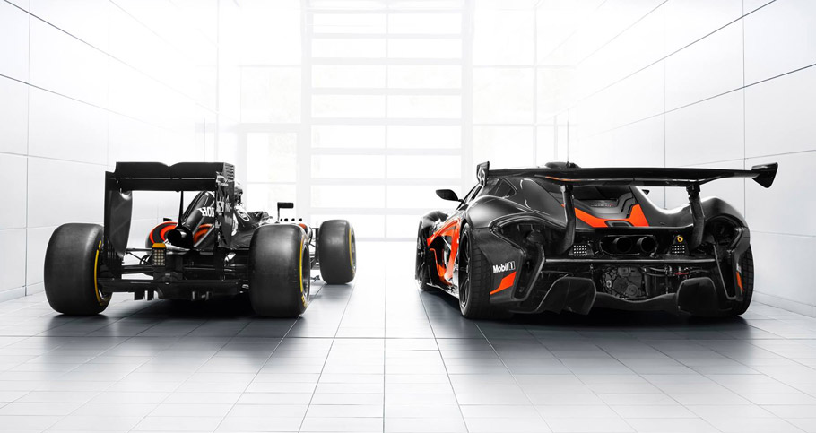 2016 McLaren P1 GTR with F1 Livery rear view