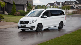 larte design offers new tuning pack for the popular mercedes-benz v-class black crystal project
