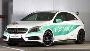 this mercedes-amg a45 makes it to 100 km/h in just 3.5 seconds! we thank posaidon for that
