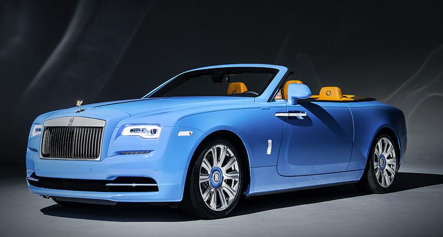 Rolls-Royce Dawn Cabriolet in Bespoke Blue Exterior