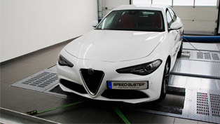 speed-buster team takes a close eye to a lucky alfa romeo giulia vehicle
